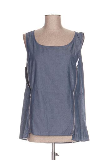 ddp chemises femme de couleur bleu