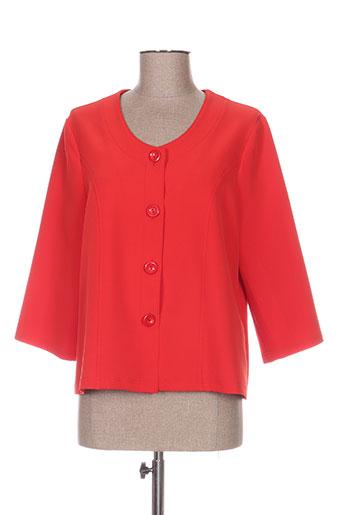 griffon vestes femme de couleur rouge