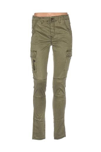 b.young pantalons femme de couleur vert