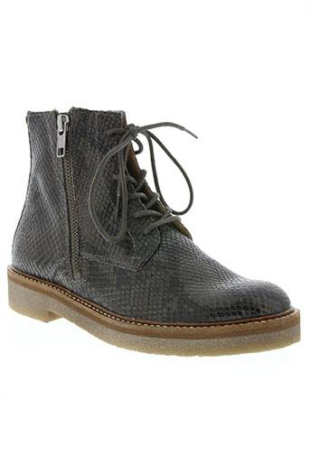 kickers chaussures femme de couleur gris