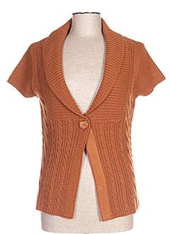 Gilet manches courtes marron TONI DRESS pour femme