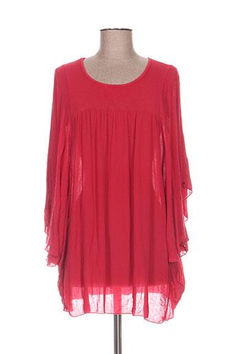 pako litto chemises femme de couleur rouge