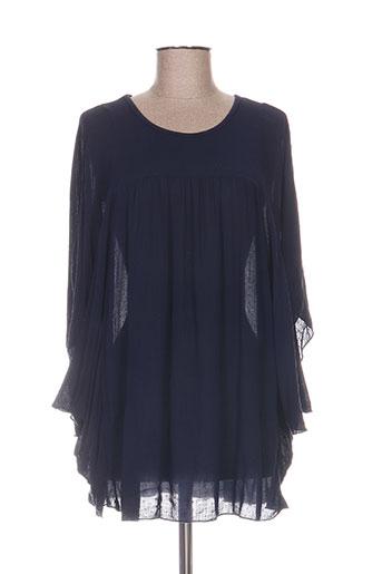 pako litto chemises femme de couleur bleu