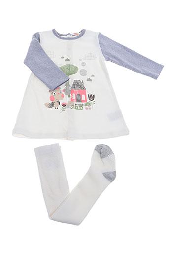 baby bol robes fille de couleur blanc