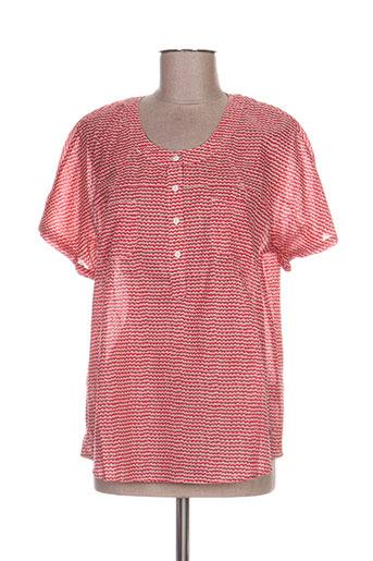 thalassa chemises femme de couleur rouge