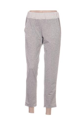 pepita pantalons femme de couleur gris