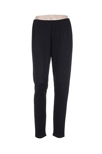 alembika pantalons femme de couleur noir