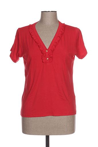 mino mora t-shirts femme de couleur rouge