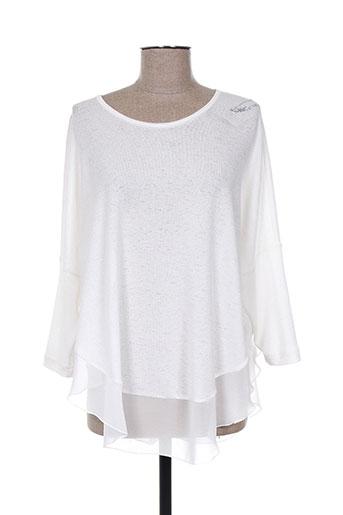 chema blanco pulls femme de couleur blanc