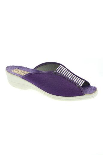 la vague chaussures femme de couleur violet