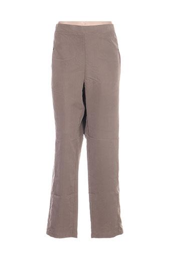 jean gabriel pantalons femme de couleur gris