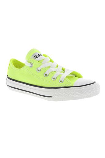 converse chaussures fille de couleur jaune