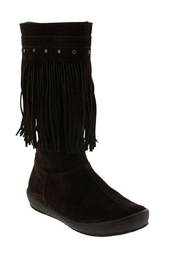 naturino chaussures fille de couleur marron