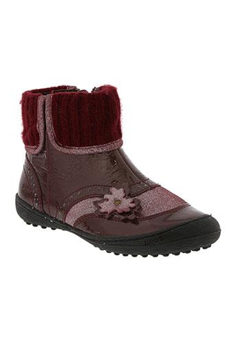 mod8 chaussures fille de couleur rouge