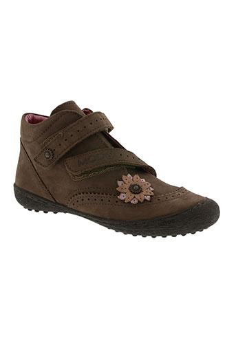 mod8 chaussures fille de couleur marron