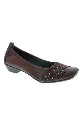 dorking chaussures femme de couleur rouge
