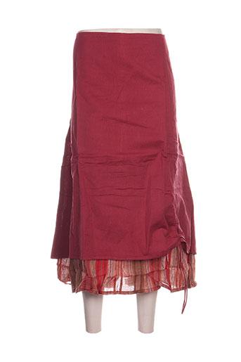 blancheporte jupes femme de couleur rouge