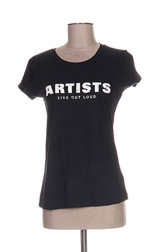 T-shirt manches courtes noir ARTISTS pour femme