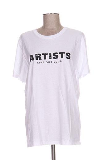T-shirt manches courtes blanc ARTISTS pour homme