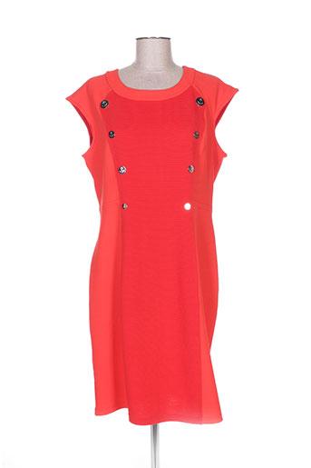 jus d'orange robes femme de couleur rouge