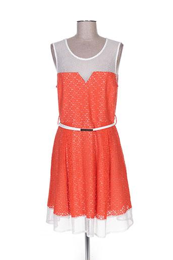 jus d'orange robes femme de couleur orange
