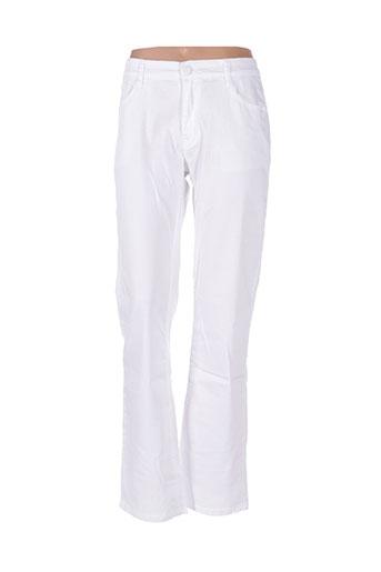 bs jeans pantalons femme de couleur blanc
