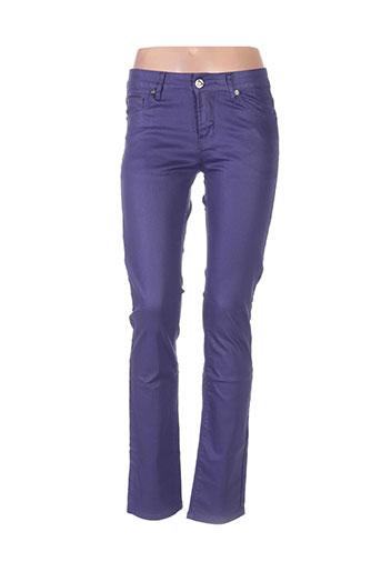 onado pantalons femme de couleur violet
