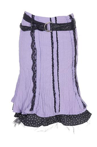 Jupe mi-longue violet DES FILLES A LA VANILLE pour femme