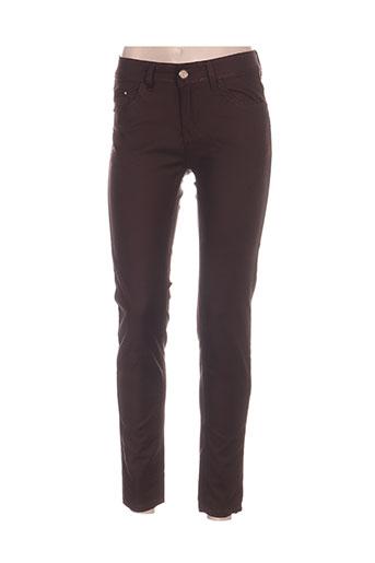 my christy pantalons femme de couleur marron