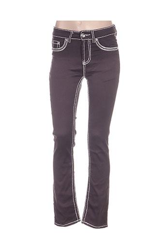 my christy pantalons femme de couleur gris