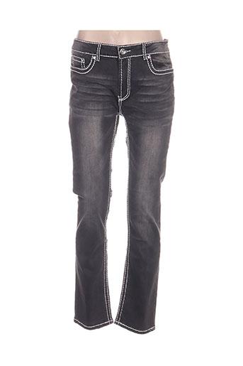 my christy jeans femme de couleur gris