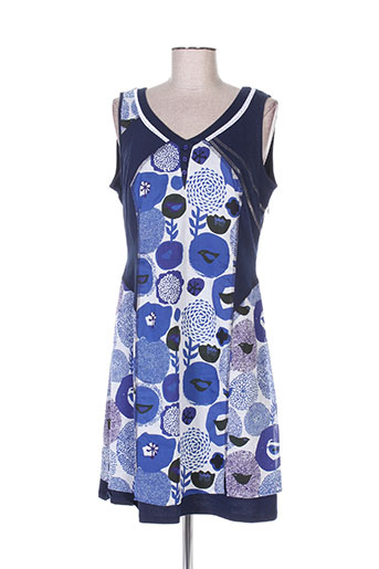 felino robes femme de couleur bleu
