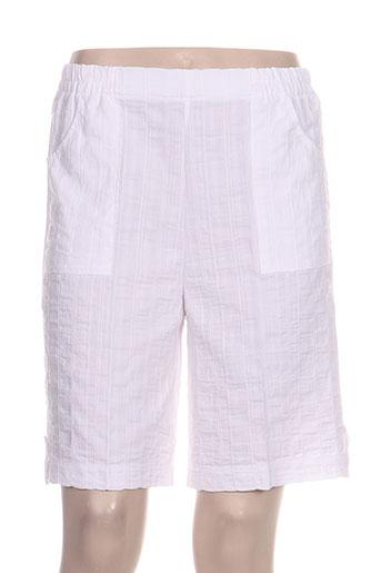 gevana shorts / bermudas femme de couleur blanc