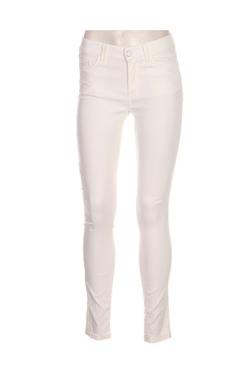marella pantalons femme de couleur blanc