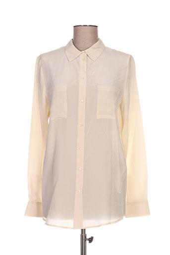 twin set chemises femme de couleur beige