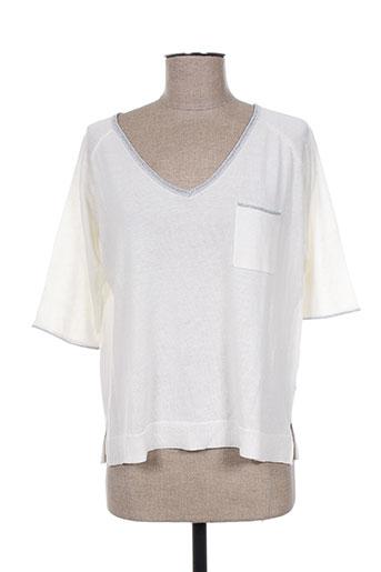 odemai pulls femme de couleur blanc