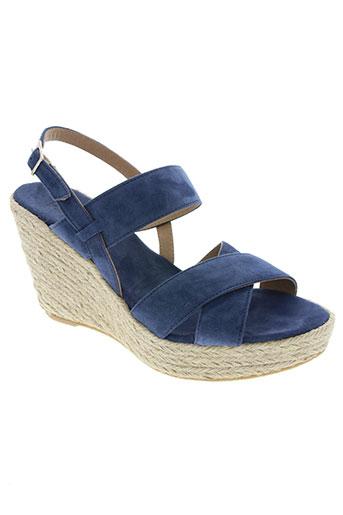 devernois chaussures femme de couleur bleu