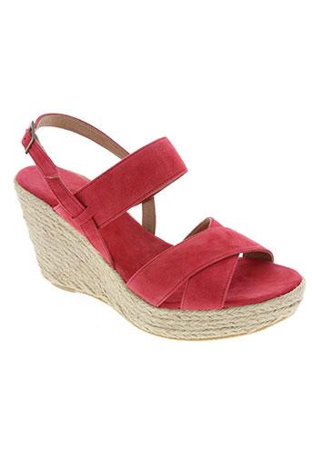devernois chaussures femme de couleur rose