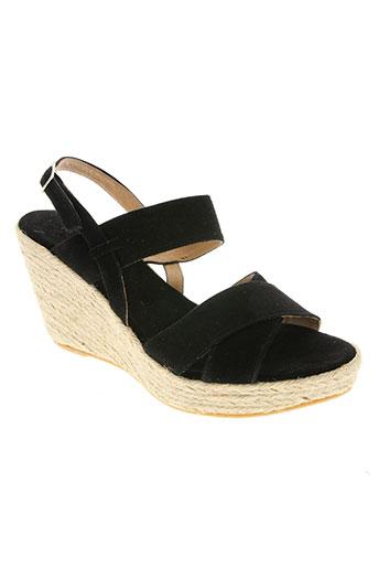devernois chaussures femme de couleur noir
