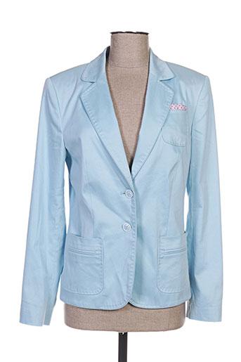 white label vestes femme de couleur bleu