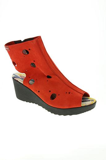 clamp chaussures femme de couleur rouge