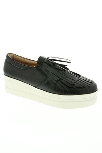 forever folie chaussures femme de couleur noir