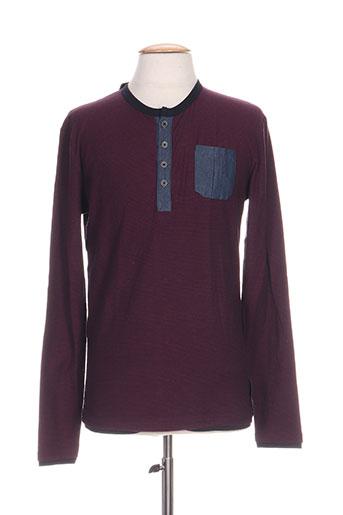 seaport t-shirts homme de couleur rouge
