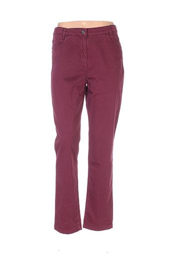 Pantalon casual violet THALASSA pour femme