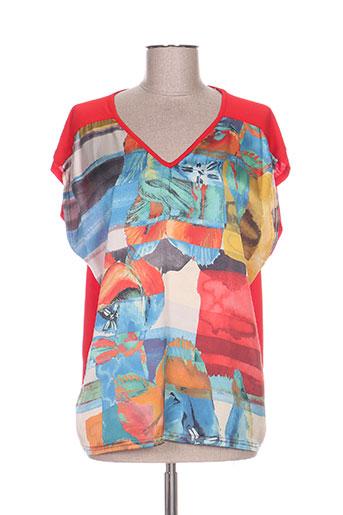 zeli chemises femme de couleur rouge