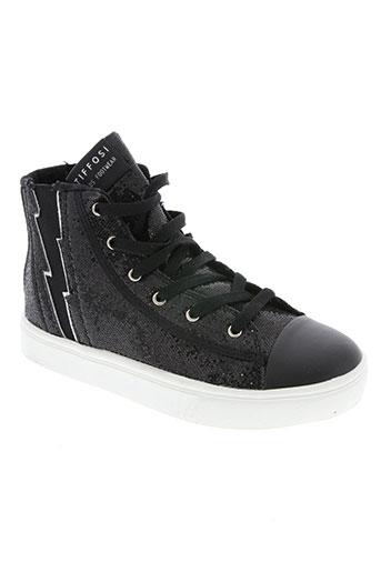 tiffosi chaussures femme de couleur noir