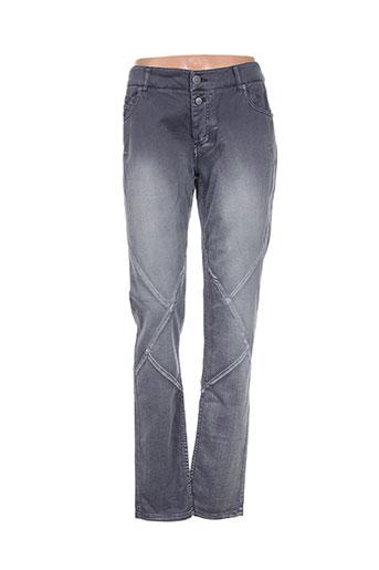 timezone jeans femme de couleur gris
