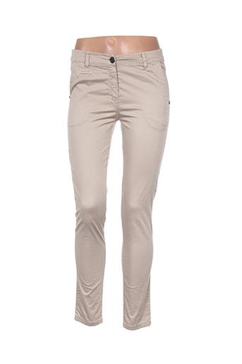 artigli pantalons femme de couleur beige