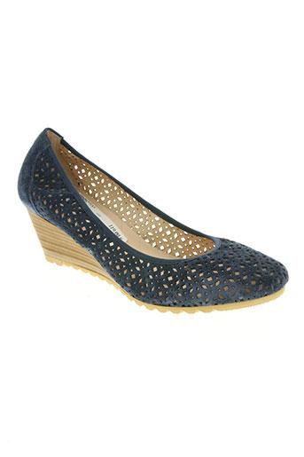 hispanitas chaussures femme de couleur bleu