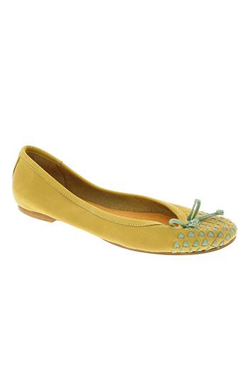 karston chaussures femme de couleur jaune
